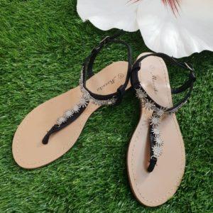 Sandali con Strass nero
